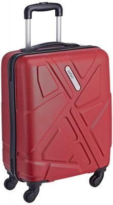 Safari Polycarbonate 51 Ltrs Red Hardsided Carry On (TRAFFIK Anti-Scratch 4W 55)