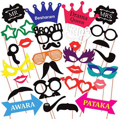 Discount Retail Photo Booth Party Props - 31 piece DIY Kit
