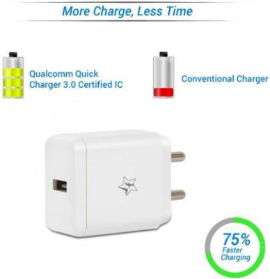 Flipkart SmartBuy Qualcomm QuickCharge 3.0 Certified IC Fast Charger with Sync USB Cable
