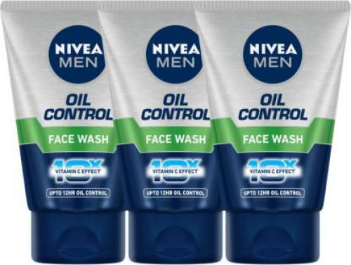 Nivea Men Oil control Face wash- Pack of 3 Face Wash