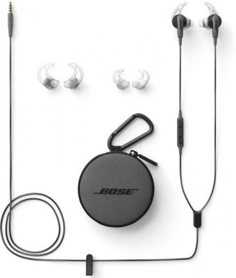 Bose SoundSport In-Ear for Apple Devices Wired Headset with Mic  (Charcoal BLK,WW, In the Ear)