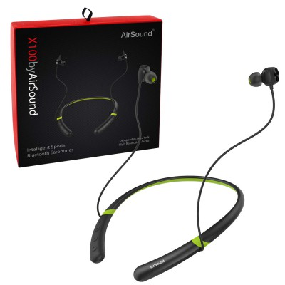 AirSound X100 Bluetooth Earphone with Light Induced Pause Sensor and Mic (Black)