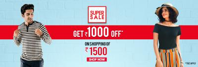 Get Rs.1000 Off on Shopping of 1500