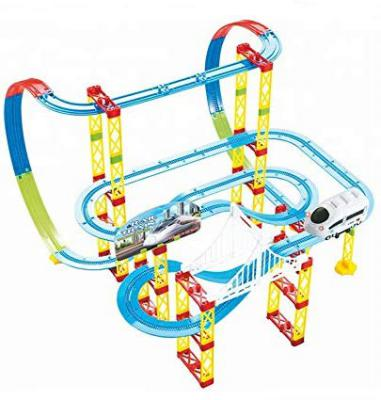 Kiditos Rail Train 105 Pcs Battery Operated Train Track Set Toy