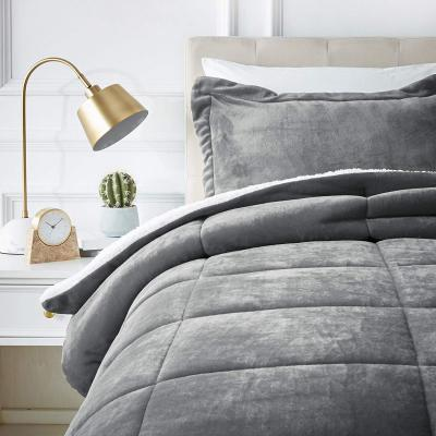 AmazonBasics Micromink Sherpa Comforter Set - Twin