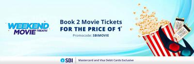 Book 2 Movie Tickets at Price of 1: SBI Debit Card