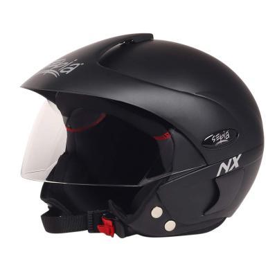 Sepia NX Rider Open Face Helmet with Peak (Matt Black, M)