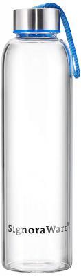 Signoraware Aqua Star Glass Water Bottle, 500ml/21mm