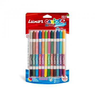 Luxor Carioca Bi-Color_Conical_Dual Felt Tip Color 12