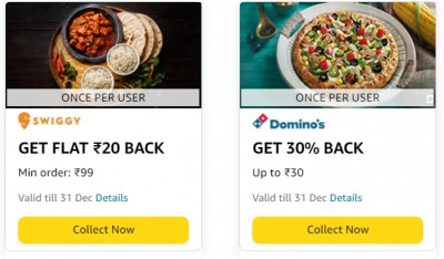 Amazon Pay Food Offers: Collect Cashback Offers