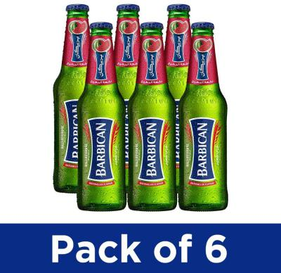 Barbican Non-Alcoholic Malt Beverage - 330ml, Pack of 6 (Watermelon)