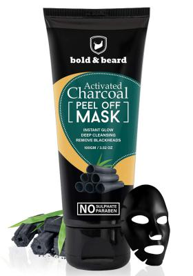 Bold & Beard Activated Charcoal Peel Off Mask For Instant Glowing Flawless Skin