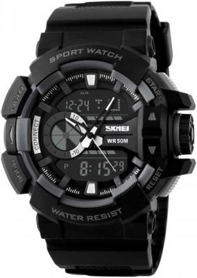 Skmei Analog-Digital Black Dial Men's Watch - 1117-Grey-01