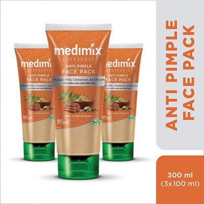 Medimix Ayurvedic Anti Pimple Face Pack, 100ml (Pack of 3)