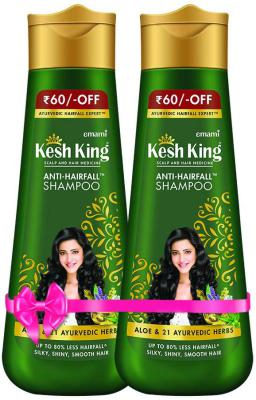Kesh King Scalp and Hair Medicine Shampoo, Pack Of 2, 340 ml