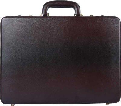 Hammonds Flycatcher Leatherette premium briefcase Large Briefcase - For Men & Women (BROWN)