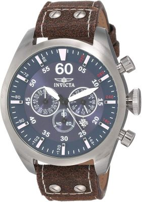 Invicta Analog Blue Dial Men's Watch - 19668