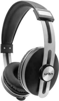 URBN Thump 500 Bluetooth Headset with Mic  (Black, On the Ear)