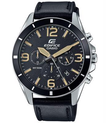 Casio Edifice Analog Black Dial Men's Watch - EFR-553L-1BVUDF (EX283)