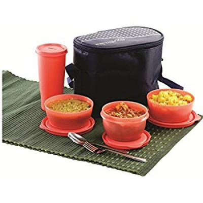 Princeware Supreme Lunchpack Set, 4-Pieces