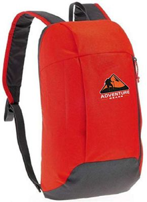 Adventure Gears Polyester Gears Outdoor Travel Casual Backpack, 15 litres (Orange)