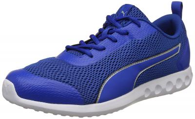 Puma Men& Royal Blue-Silver Running Shoes-10 UK/India