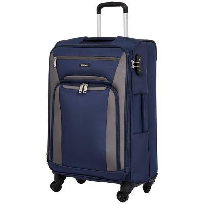 Amazon Brand - Solimo 68.5 cms Softsided Suitcase with Wheels and TSA Lock, Blue