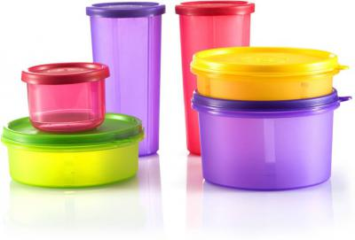 Flipkart SmartBuy Multipurpose Containers - 535 ml, 350ml, 290ml, 190ml, 150ml - Plastic Fridge Container  (Pack of 6, M