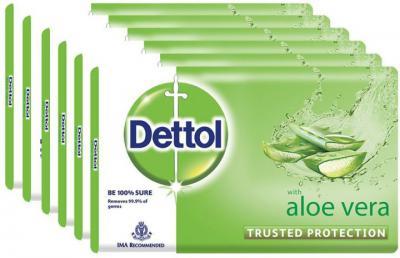 Dettol Bathing Bar Soap, Aloe Vera