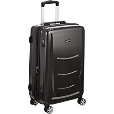 AmazonBasics 55 cm Hardshell Cabin Size Suitcase, Slate Grey