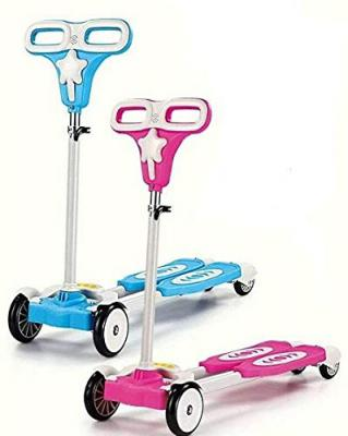 SUPER TOY 4-Wheel Zip Flick Style Double-Board Scooter for Kids - Multicolored
