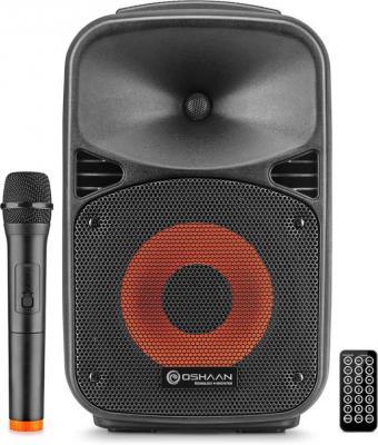 """Oshaan Wireless Rechargeable 8"""" Trolley Speaker 56 Bluetooth Tower Speaker  (Black, Mono Channel)"""