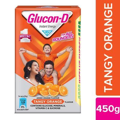 Glucon-D Glucose Based Beverage Mix, Orange, 450g