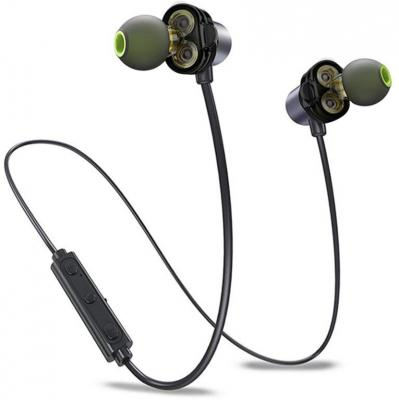 Probus X690BL Dual Driver Wireless Bluetooth Earphone Pure Bass Bluetooth Headset with Mic  (Black, In the Ear)