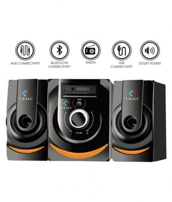 I Kall IK-201 2.1 Bluetooth Speakers - Black for Laptop, computer, Mobiles & TV/AV