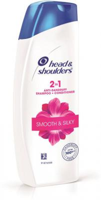 Head & Shoulders Smooth and Silky 2-in-1 Shampoo Plus Conditioner  (360 ml)