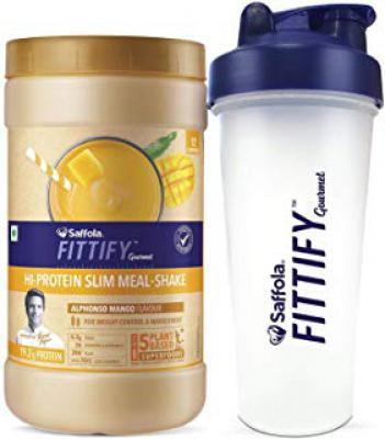 Saffola FITTIFY Gourmet Hi-Protein Slim Meal Shake [7 options]