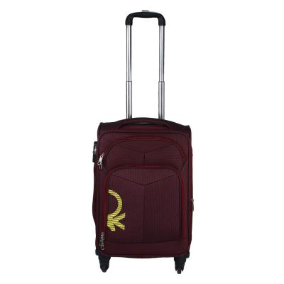 United Colors of Benetton Polyester 58 cms Maroon Softsided Check-in Luggage (0IP6SPO20T01I)