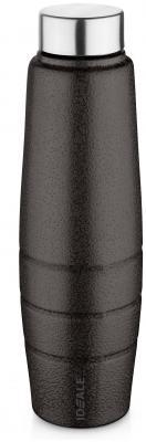 Ideale Duro Texture Brown Oval Shape Stainless steel Fridge Bottle-1000 ML