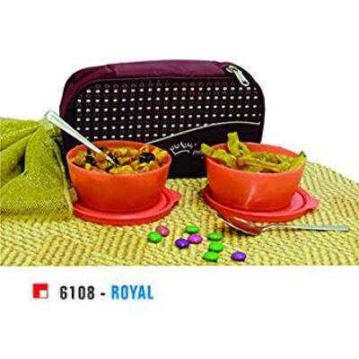 Princeware Royal Plastic Lunch Pack Set (Set of 2)
