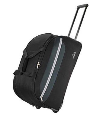 Lavie Polyester 57 cms Black Travel Duffle (BOFX443019N2)
