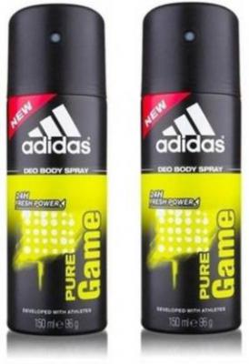 ADIDAS pure game Deodorant Spray - For Men  (300 ml, Pack of 2)