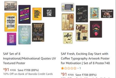 SAF Paintings up to 85% off plus extra Rs 30 off