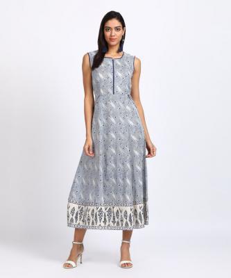 Rangriti Women Maxi Blue Dress