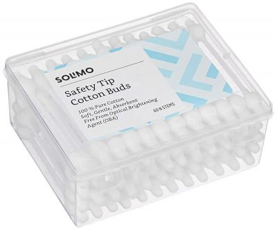 Amazon Brand - Solimo Safety Tip Cotton Buds - 60 Sticks