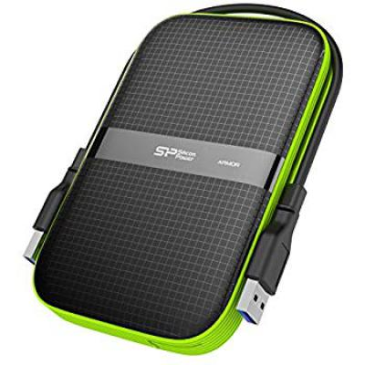 Silicon Power 1TB Rugged Armor A60 Shockproof Water-Resistant 2.5-Inch USB 3.0 Portable External Hard Drive, Black