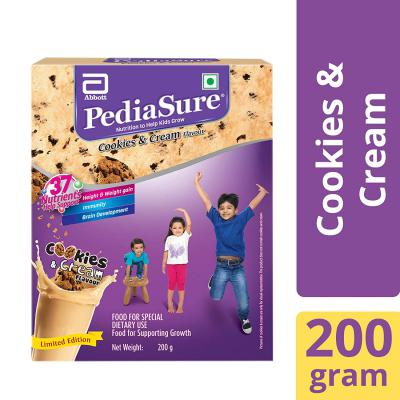 PediaSure Health & Nutrition Drink Powder for Kids Growth - 200g (Cookies & Cream)
