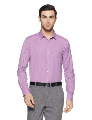 Next Look Men's Solid Slim Fit Formal Shirt