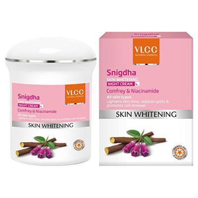 VLCC Snigdha Skin Whitening Night Cream, 50g