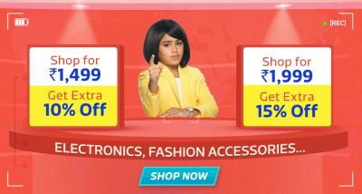 Shop More to Save More | Shop for Rs 1499, Get extra 10% off | Shop for Rs 1999, Get Extra 15% off